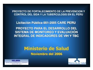 Ministerio de Salud Noviembre del 2006