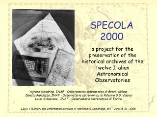 SPECOLA 2000