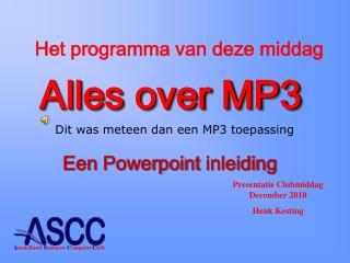Alles over MP3