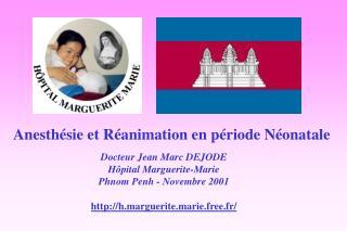 Anesthésie et Réanimation en période Néonatale