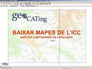 BAIXAR MAPES DE L'ICC (INSTITUT CARTOGRÀFIC DE CATALUNYA)