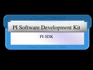 PI Software Development Kit