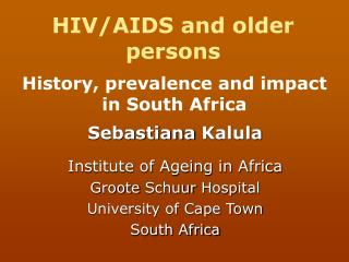 HIV/AIDS and older persons