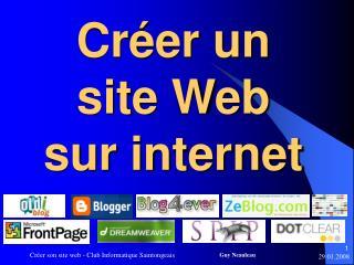 Cr�er un site Web sur internet