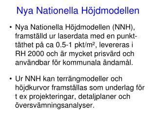 Nya Nationella Höjdmodellen