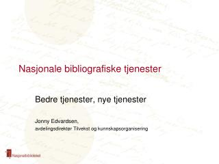 Nasjonale bibliografiske tjenester