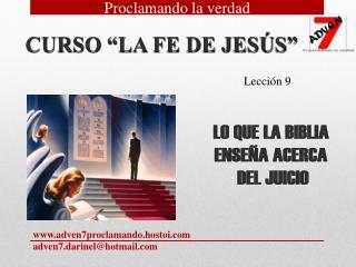 """CURSO """"LA FE DE JESÚS"""""""