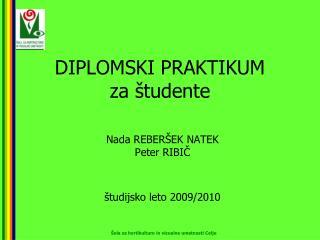 DIPLOMSKI PRAKTIKUM za študente