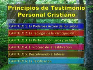Principios de Testimonio Personal Cristiano