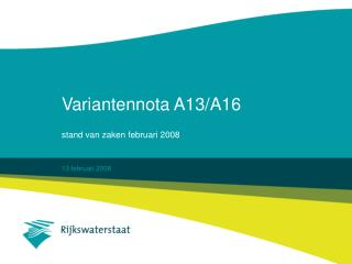 Variantennota A13/A16
