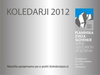 Koledar PZS - Pozdrav z gora 2012