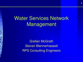 Water Services  Network Management