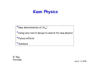 Kaon Physics