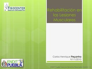 Rehabilitación en las Lesiones Musculares