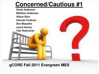 Concerned/Cautious #1