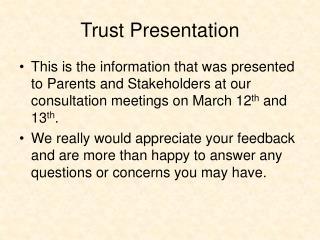 Trust Presentation