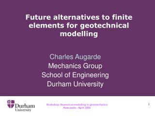 Future alternatives to finite elements for geotechnical modelling