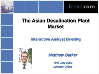 The Asian Desalination Plant Market