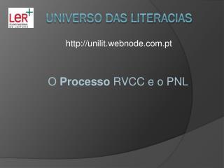 UNIVERSO DAS LITERACIAS