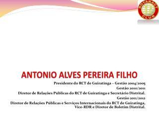 ANTONIO ALVES PEREIRA FILHO