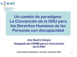Ana Sastre Campo Delegada del CERMI para la Convenci�n de la ONU