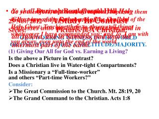 Burmah  Road Gospel Hall 25 Nov. 2012       A Study In Contrast Series: Pictures of A Christian: