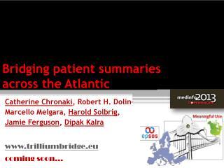 Bridging patient summaries across the Atlantic