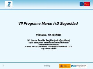 VII Programa Marco I+D Seguridad
