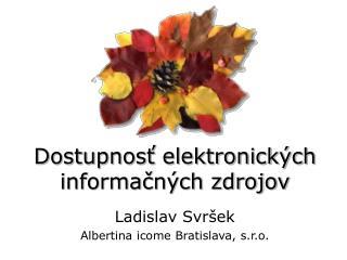 Dostupnosť elektronických informačných zdrojov
