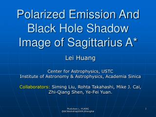 Polarized Emission And Black Hole Shadow Image of Sagittarius A*