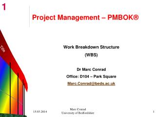Project Management   PMBOK