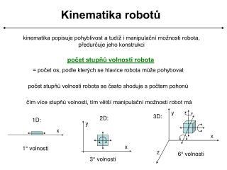 Kinematika robotů