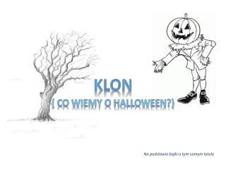 ( co wiemy o  Halloween ?)
