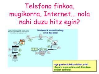 Telefono finkoa, mugikorra, Internet... nola nahi duzu hitz egin?