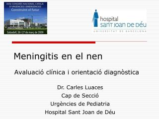 Meningitis en el nen