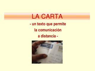 LA CARTA