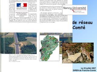 Proposition d'une cartographie de réseau écologique pour la Franche-Comté