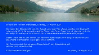 Bönigen am schönen Brienzersee, Samstag, 16. August 2014