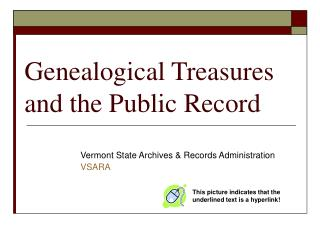 Genealogical Treasures and the Public Record