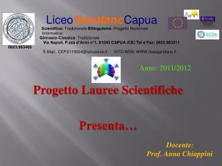 Progetto Lauree Scientifiche Presenta…