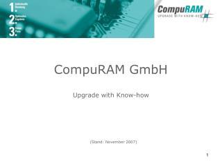 CompuRAM GmbH Upgrade with Know-how
