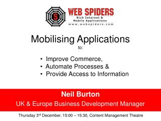 Mobilising Applications to: