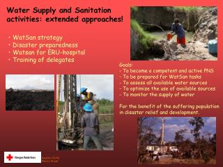 Water Supply and Sanitation  activities: extended approaches!