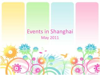 Events in Shanghai
