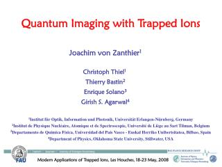 Quantum Imaging with Trapped Ions