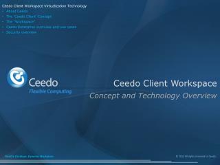 Ceedo Client Workspace