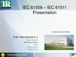 IEC 61508 – IEC 61511 Presentation