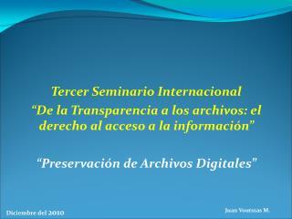 Tercer Seminario Internacional