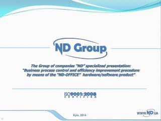 """The Group of companies """"ND"""" specialized presentation:"""