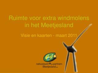 Ruimte voor extra windmolens in het Meetjesland